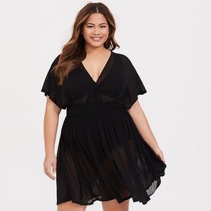 Torrid | Plus Size Black Mesh Swimsuit Coverup